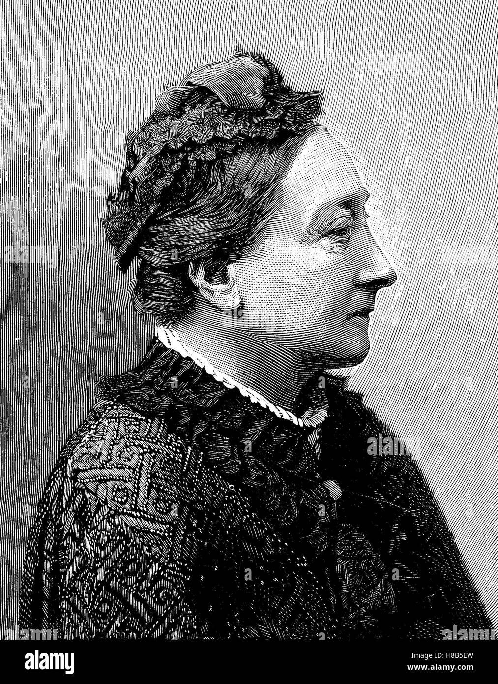 La princesa Luisa de Sax-Gotha-Altenburg, Louise Dorothea Pauline Charlotte Fredericka Auguste; 21 de diciembre Imagen De Stock
