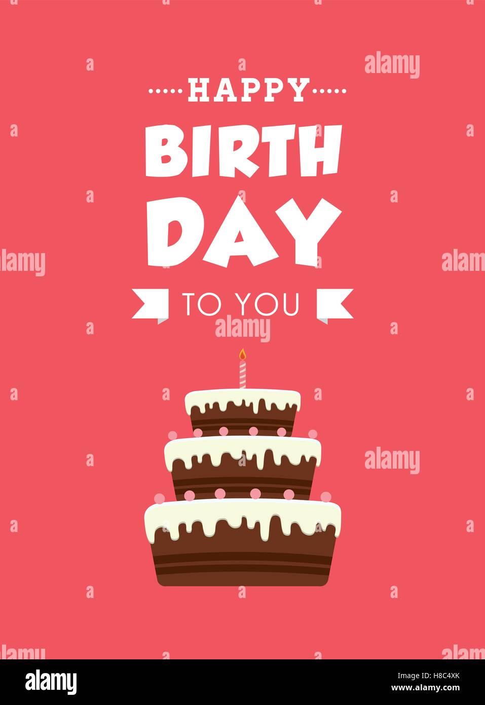 Tarjeta de Feliz cumpleaños Imagen De Stock