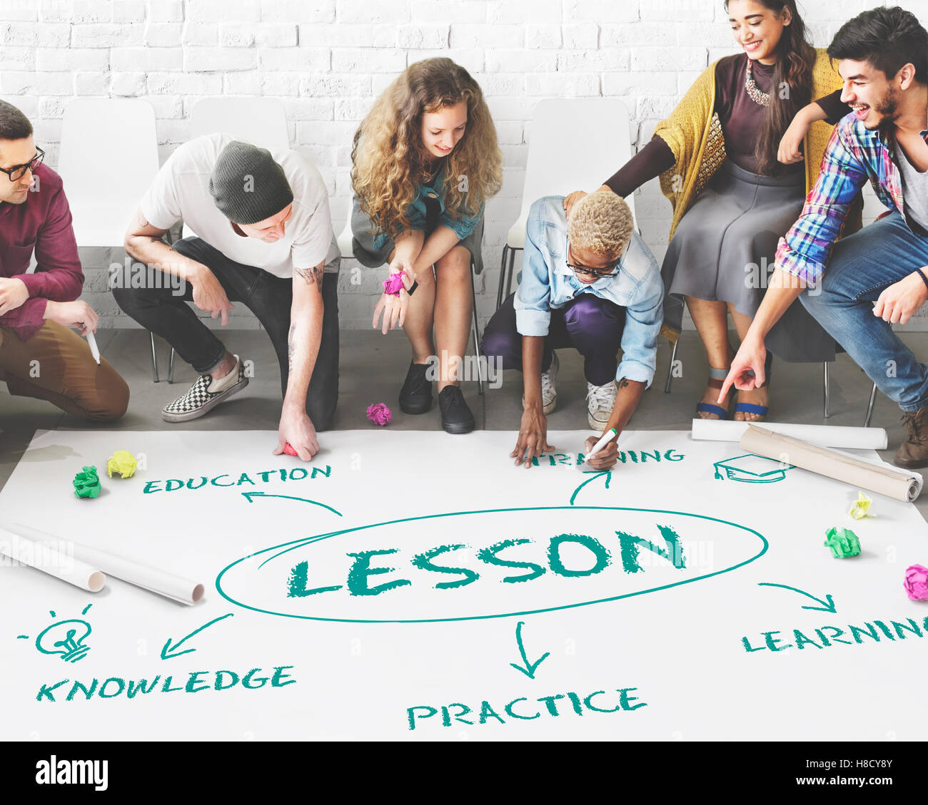 Perfección Edycation éxito Estudio concepto de conocimiento Imagen De Stock