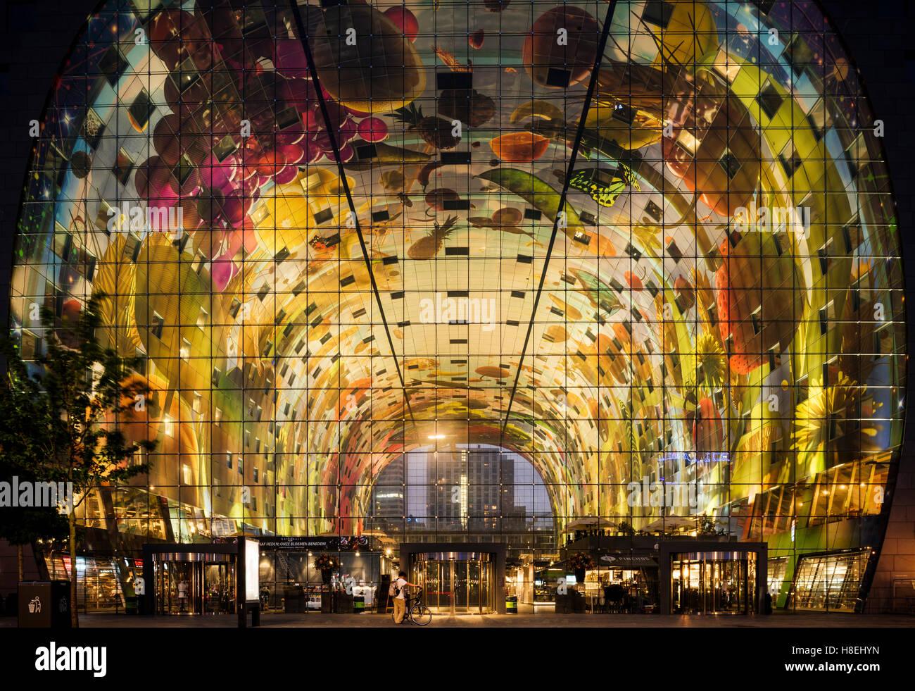 Exterior de Markthal, Westnieuwland, Rotterdam, Países Bajos, Europa Imagen De Stock