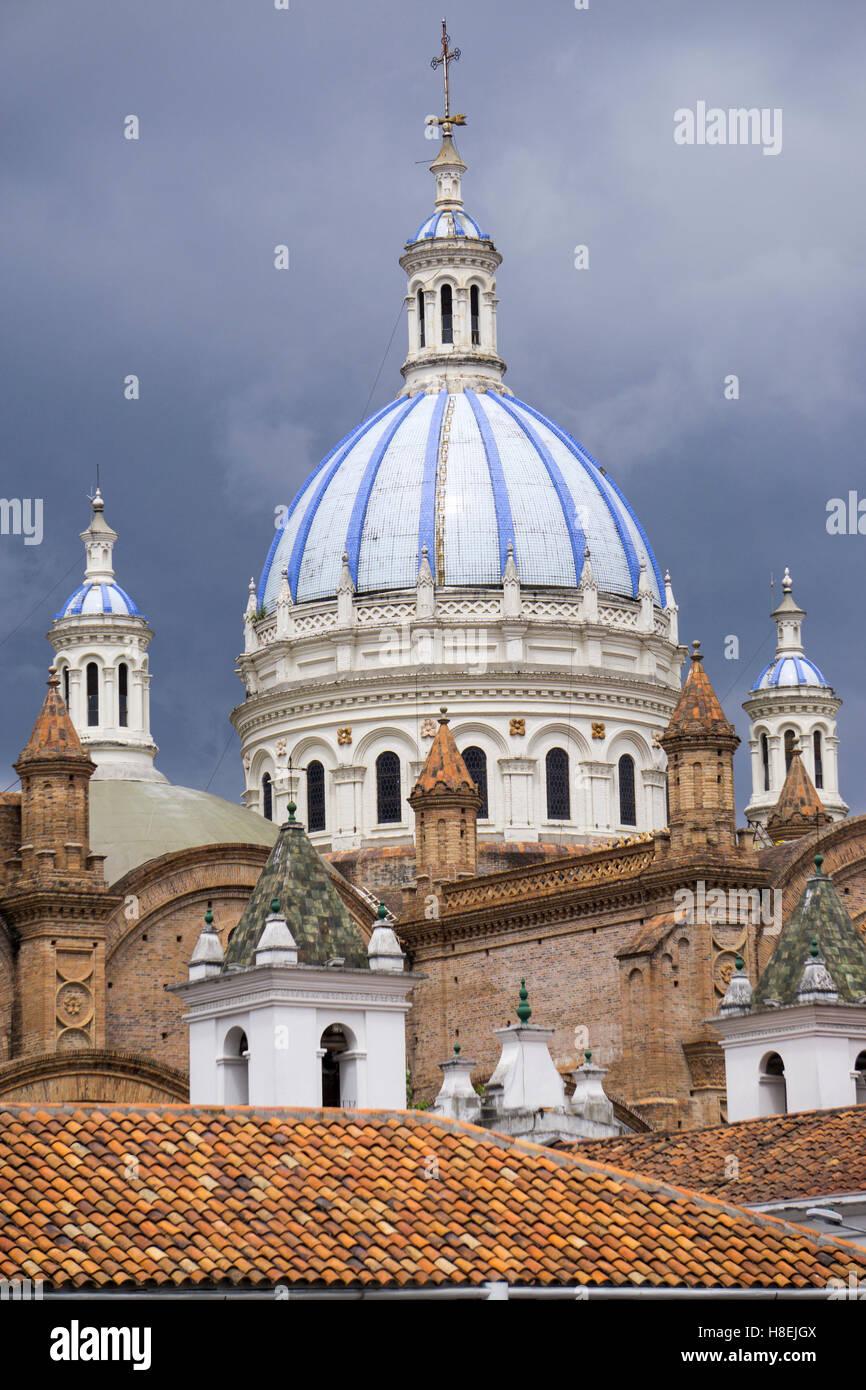 La Catedral de Cuenca, Cuenca, Sitio del Patrimonio Mundial de la UNESCO, Ecuador, Sudamérica Foto de stock