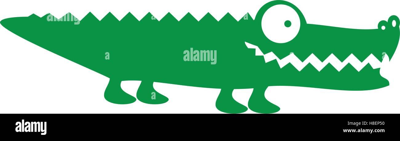 Dibujos Animados Animales Cocodrilo Cocodrilo O Imagen De
