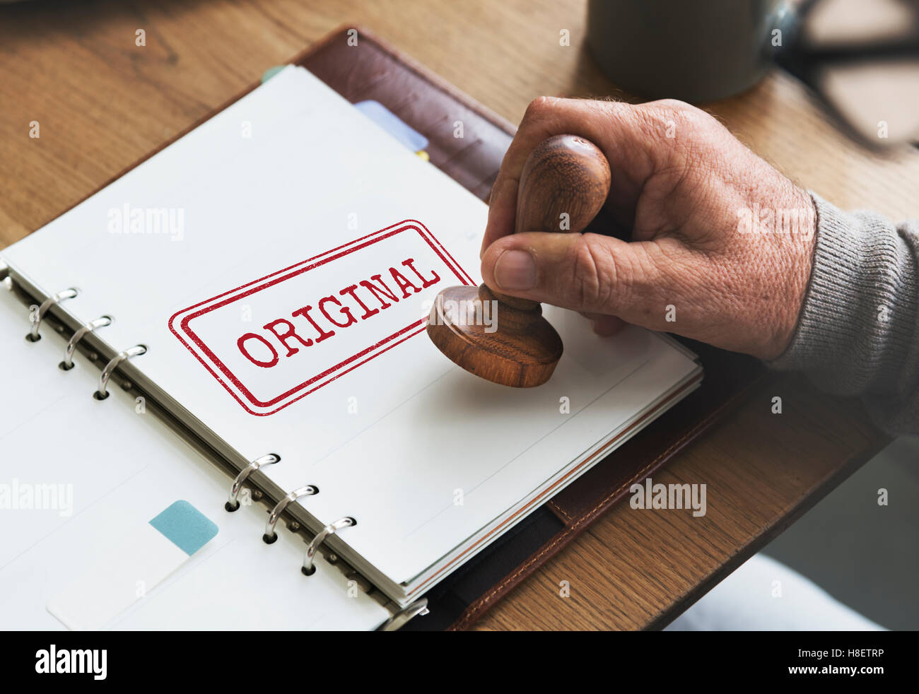 Marca marca patente original concepto de copyright Foto de stock