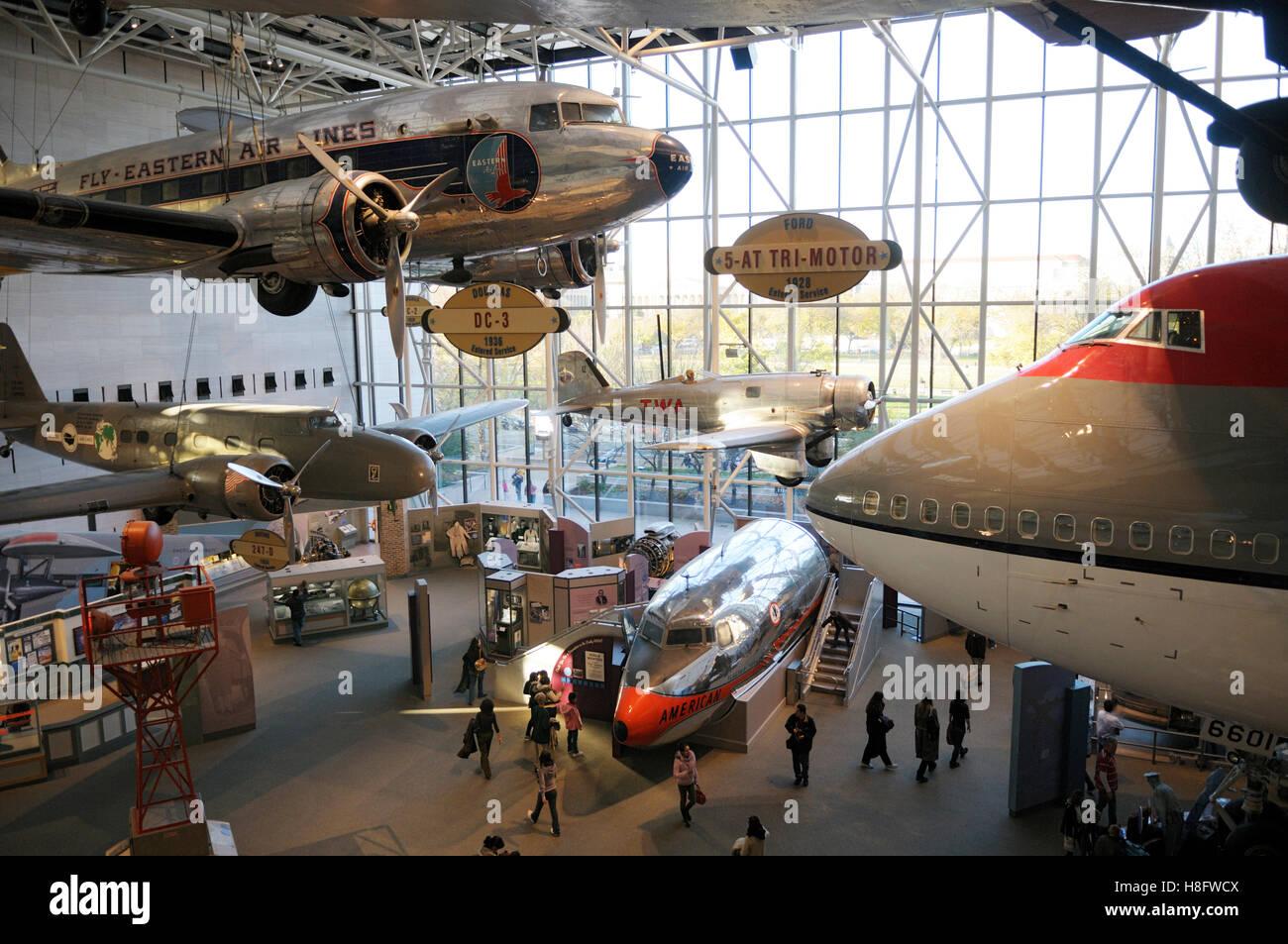 Museo del Aire y el espacio, Washington, D.C. Imagen De Stock