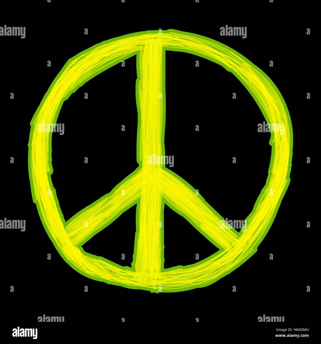 Signo de paz. Símbolo de la paz hippie Imagen De Stock