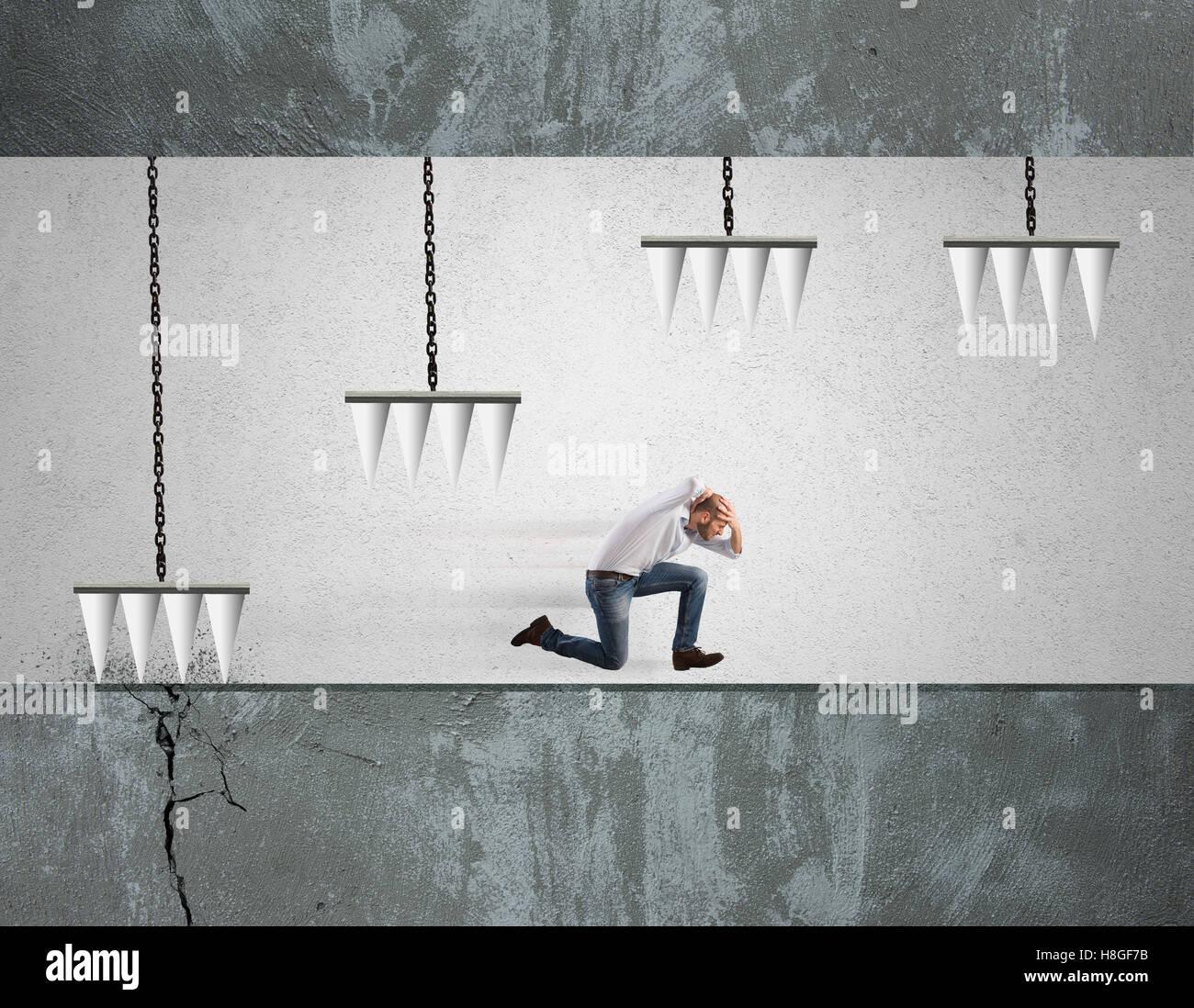 Dificultad de negocios Imagen De Stock
