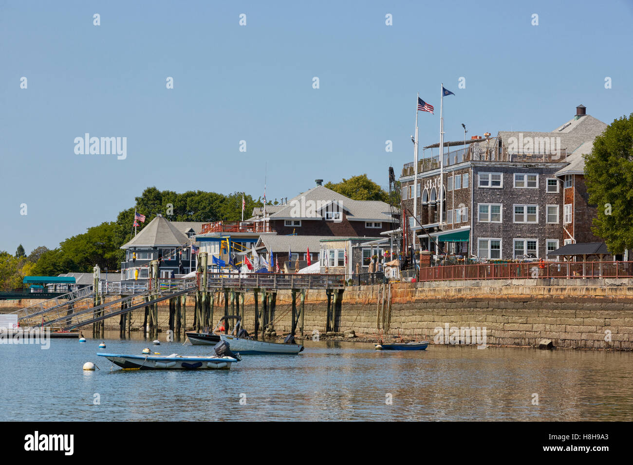 South Boston Yacht Club, Columbia Yacht Club, Club Náutico del puerto de Boston, el sur de Boston, Massachusetts, Imagen De Stock