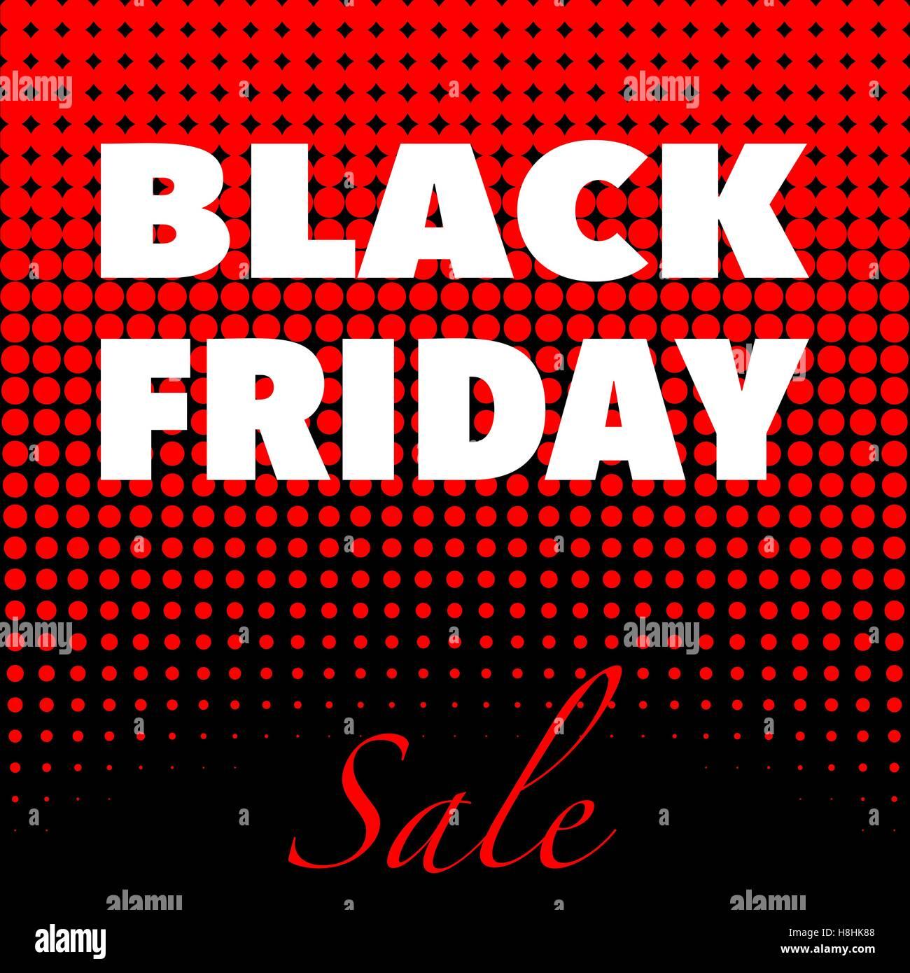 Viernes Negro poster publicitario diseño Plantilla vectorial Imagen De Stock