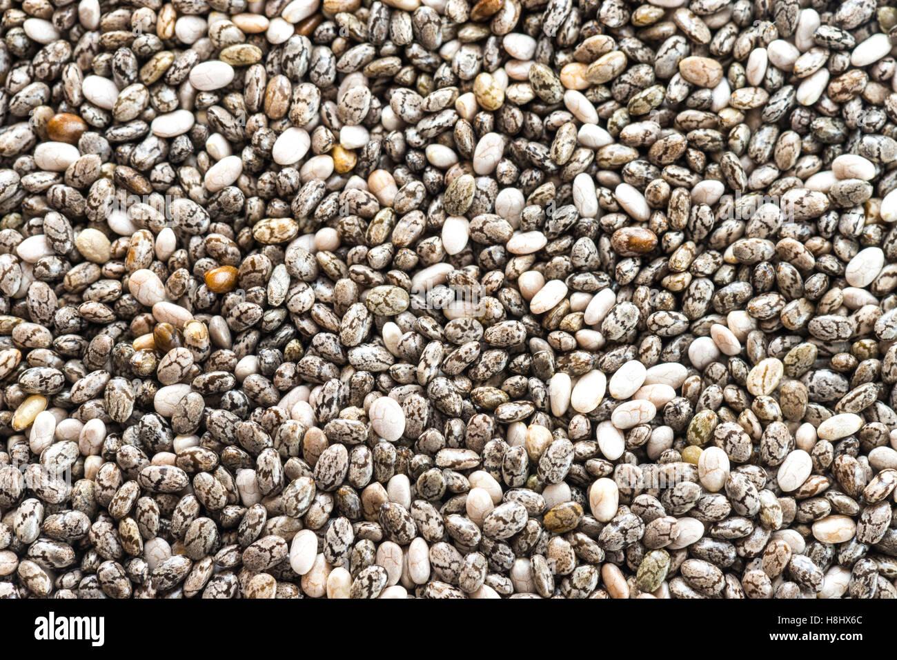 Macro shot de chia semillas, imagen completa para su uso como alimento o texturas de fondo Imagen De Stock
