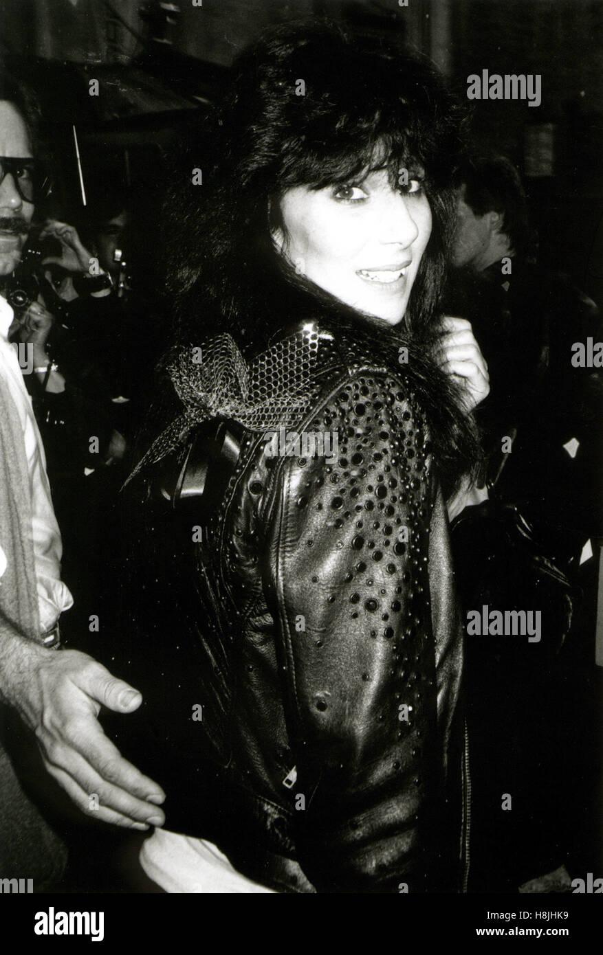 Cher 1986 asiste a los premios Tony, nyc © Walter mcbride / Fotografía / mediapunch wm. Imagen De Stock