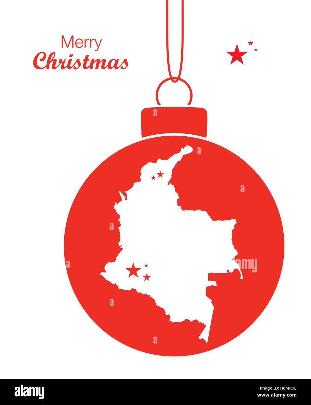 Fotos De Colombia En Navidad.Feliz Navidad Mapa Colombia Ilustracion Del Vector Imagen