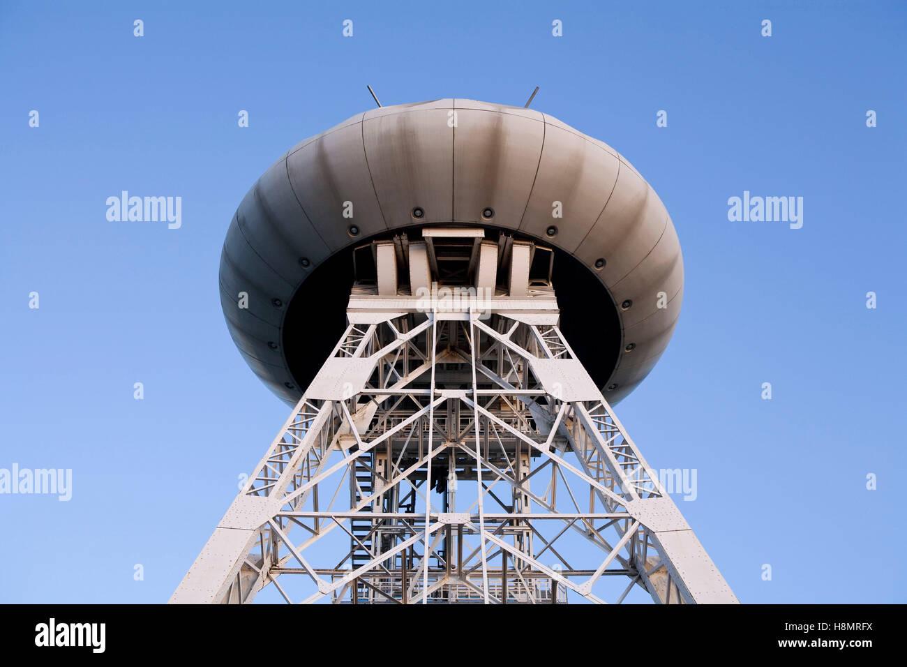 Alemania, área de Ruhr, centro tecnológico Luentec, el ovni del diseñador Colani en la parte superior Imagen De Stock