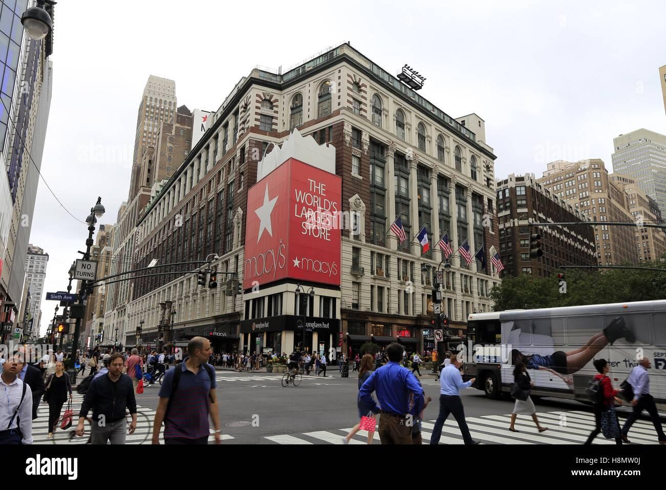 El Edificio Principal De Macy S En Nueva York Tiene 198 500 Metros Cuadrados 10 Pisos Y Aproximadamente 3 000 Empleados Debería Ser El Almacén Más Grande En El Mundo Y Es El Hogar Ancestral