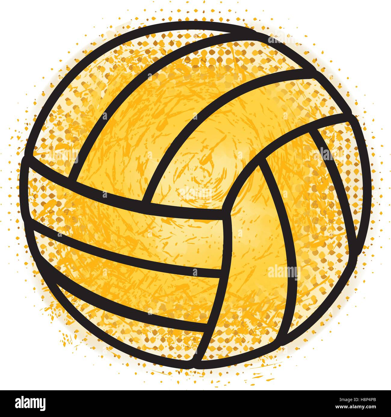 Balón de voleibol deporte icono diseño ilustración vectorial Imagen De Stock 880a0e48ebf36