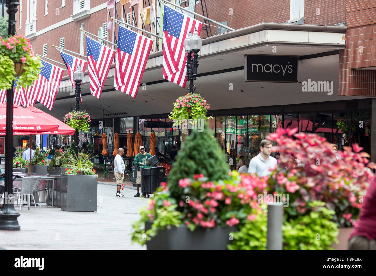 Boston Massachusetts Estados Unidos tienda Macy's. Imagen De Stock
