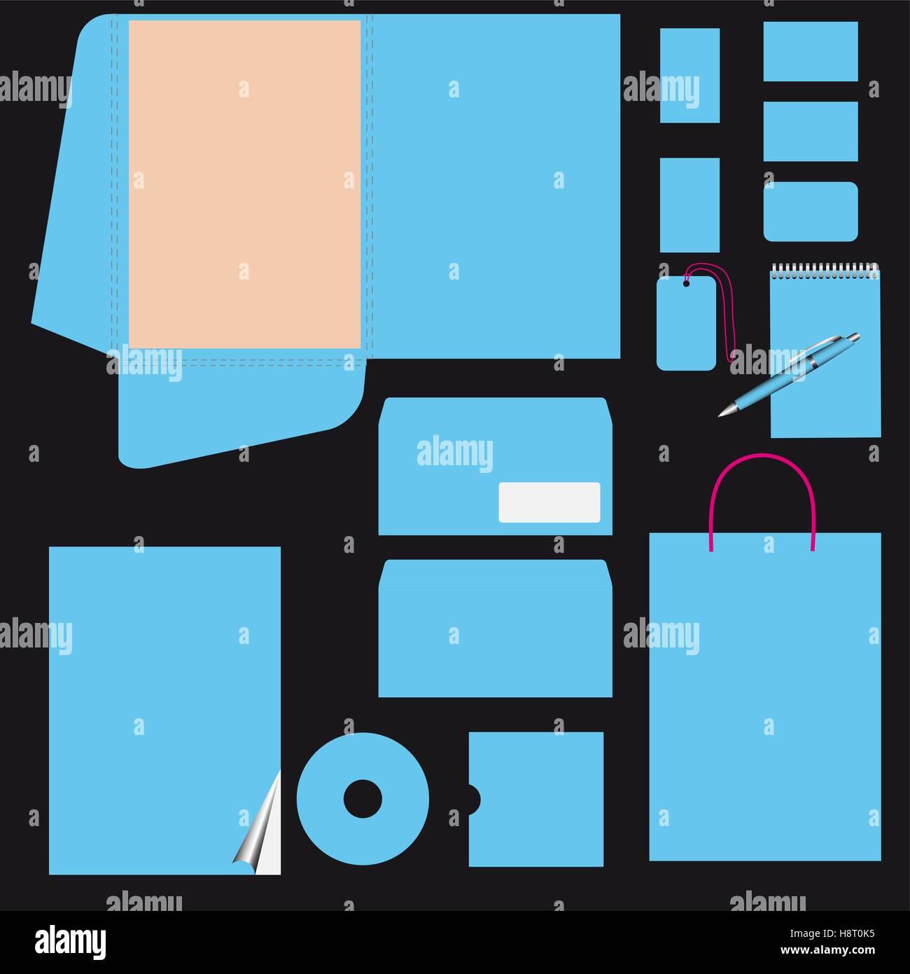 Negocios azul plantilla de estilo. Vector eps10. CMYK Imagen De Stock