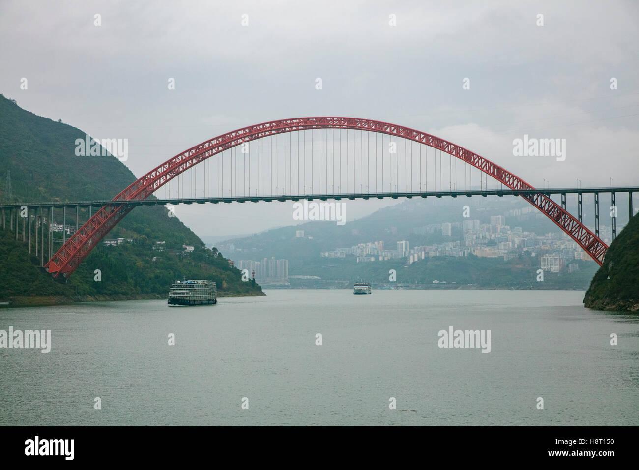Victoria Cruceros, Viaje del río Yangtze, China Imagen De Stock