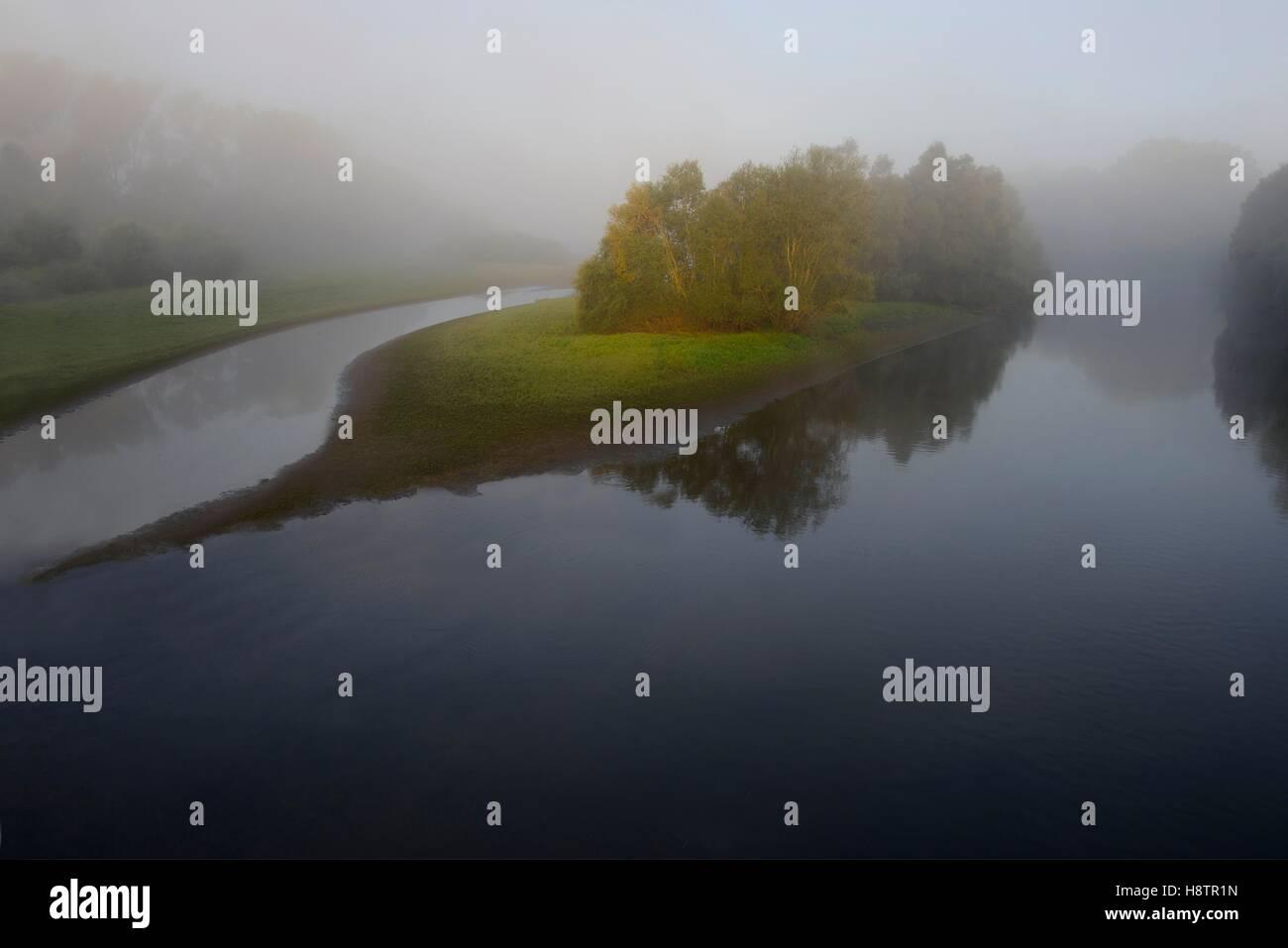 Sauer Delta, Munchhausen, Reserva Natural del Delta Sauer, Alsacia, Francia Foto de stock