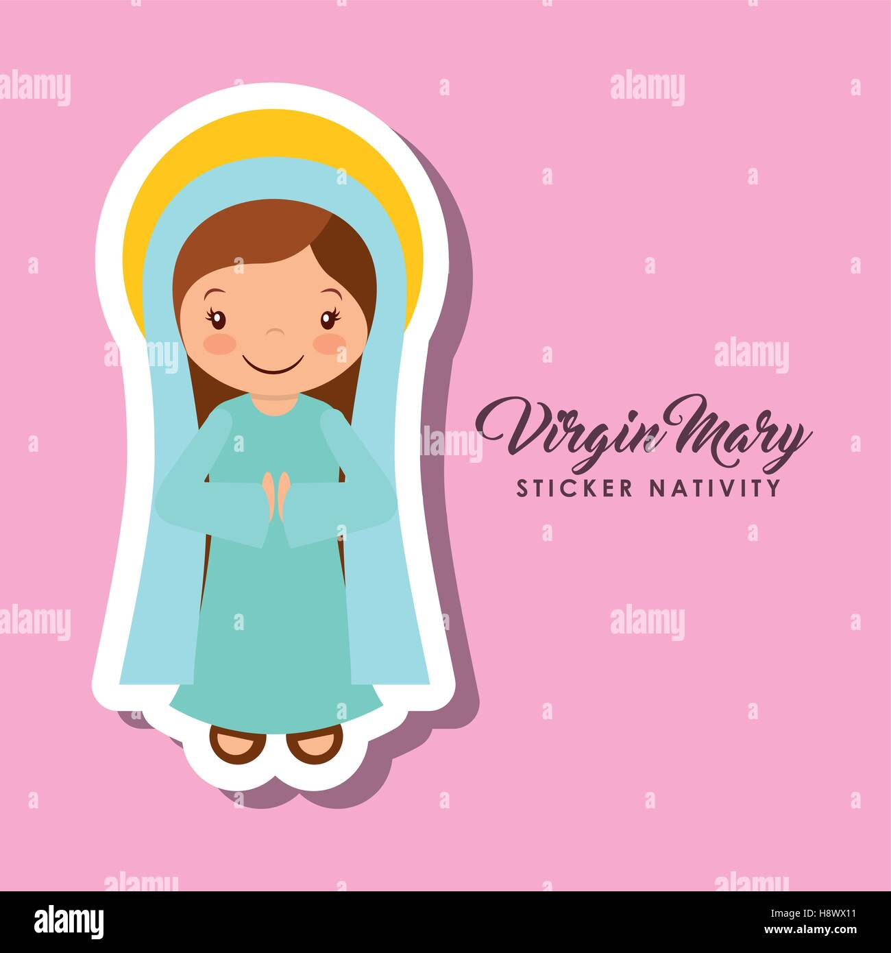 Mary Baby Jesus Cartoon Design Imágenes De Stock & Mary Baby Jesus ...