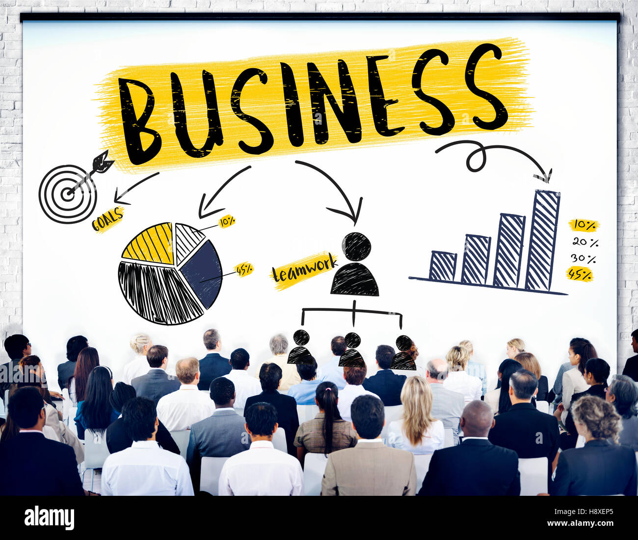 El crecimiento del negocio de éxito concepto de trabajo en equipo corporativo Imagen De Stock
