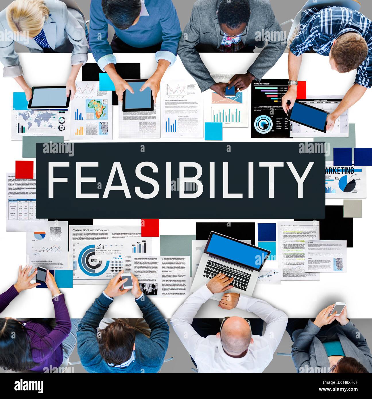 Posibilidad factible posible potencial adecuado concepto Foto de stock