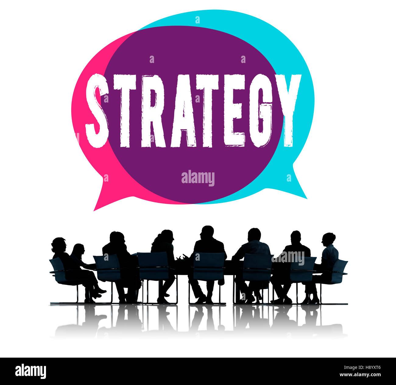 Estrategia para el desarrollo de directrices de dirección Concepto de habilidades Imagen De Stock