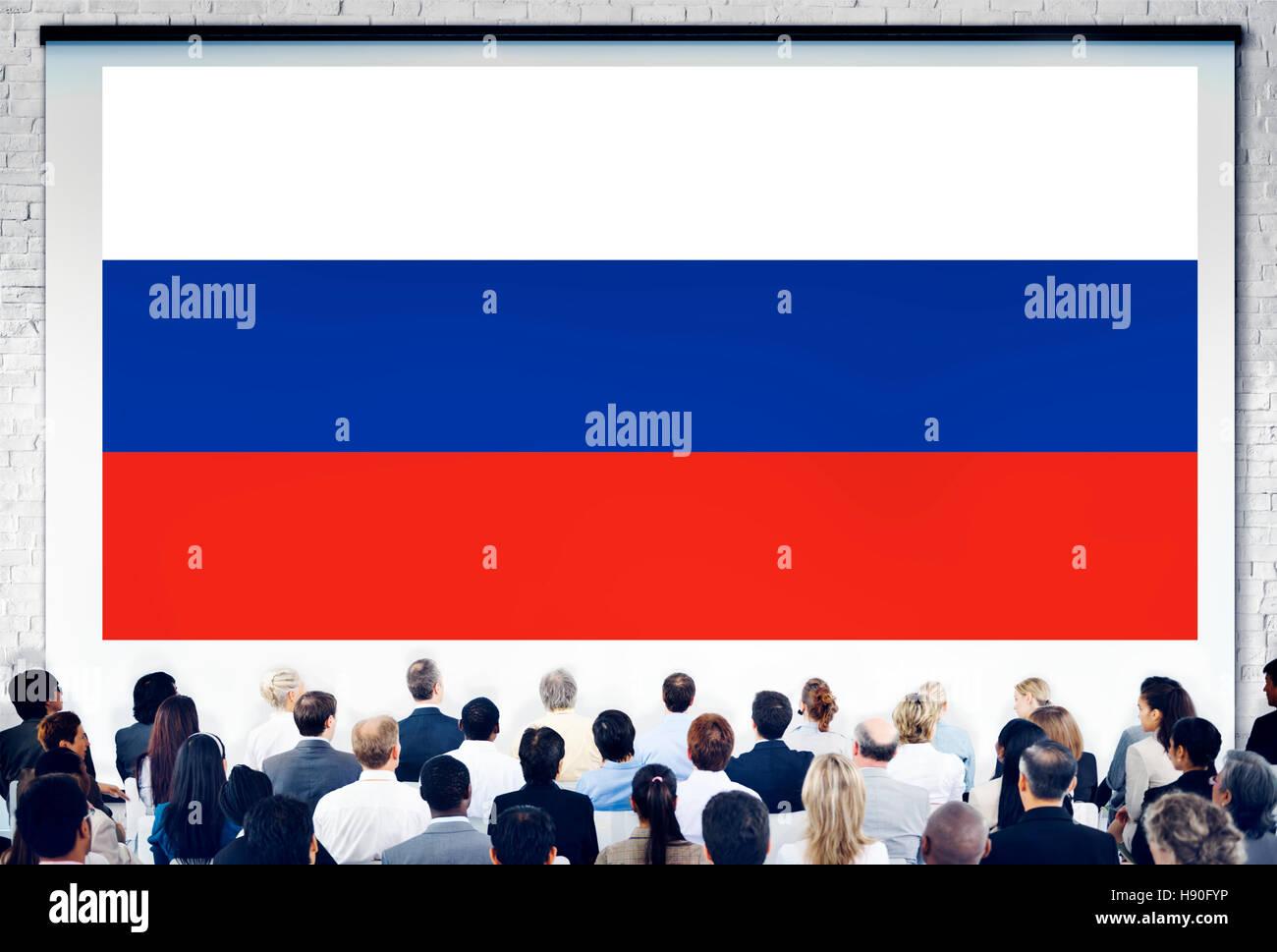 Rusia Bandera patriotismo ruso Concepto Unidad orgullo Imagen De Stock
