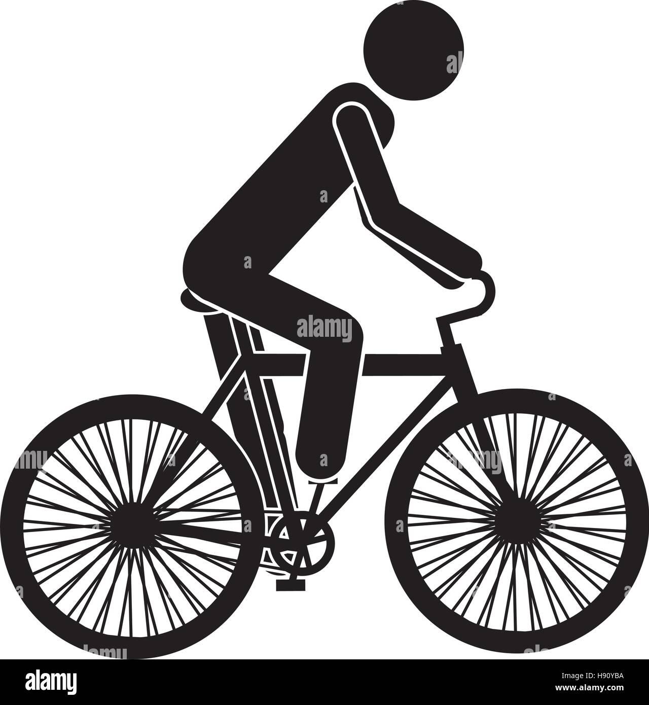 El diseño del vehículo bicicleta aislado Imagen De Stock