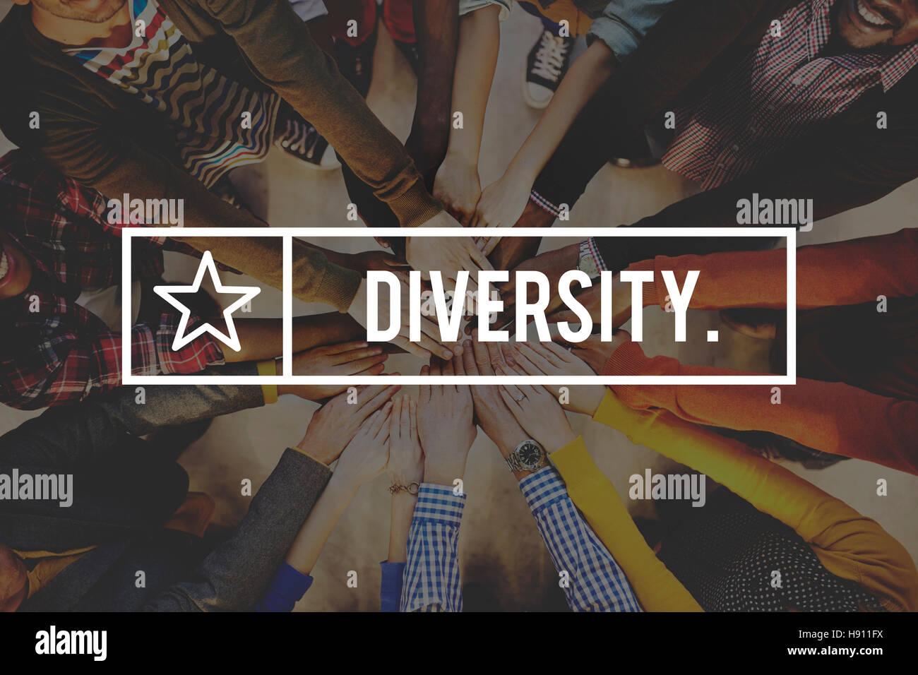 La diversidad de la Sociedad Carrera de variación concepto comunitario Imagen De Stock