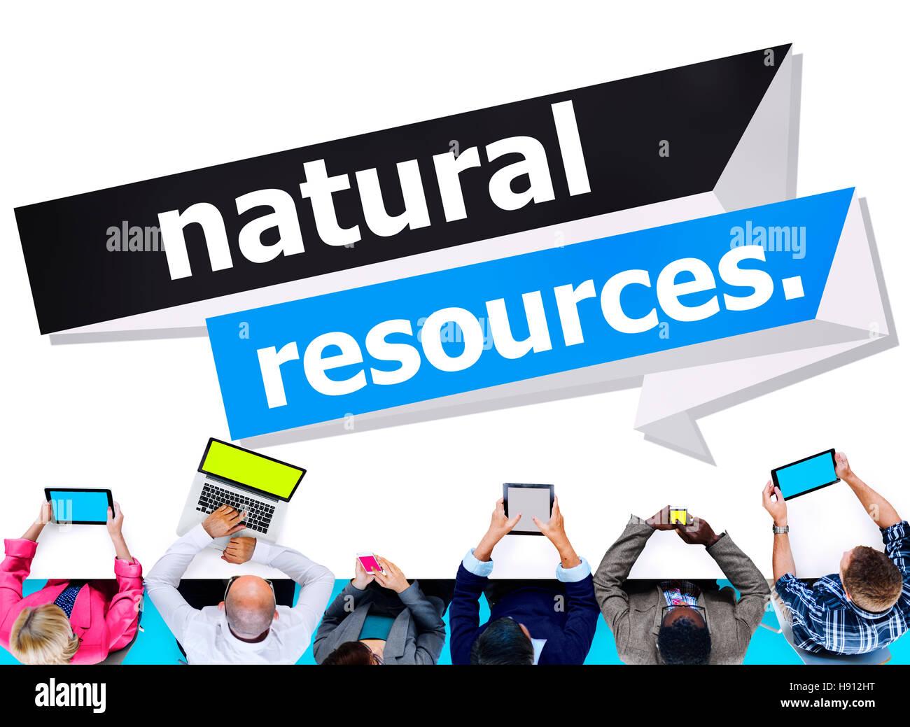 Los recursos naturales de la tierra ambiental concepto energético Imagen De Stock