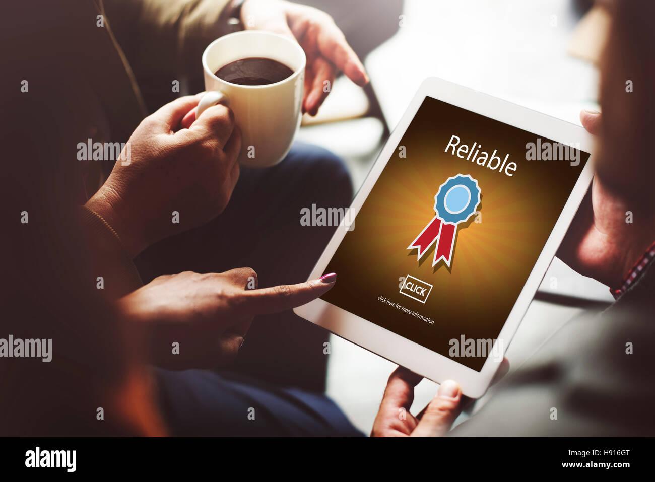 Compromiso confiable consistencia concepto fiable Imagen De Stock