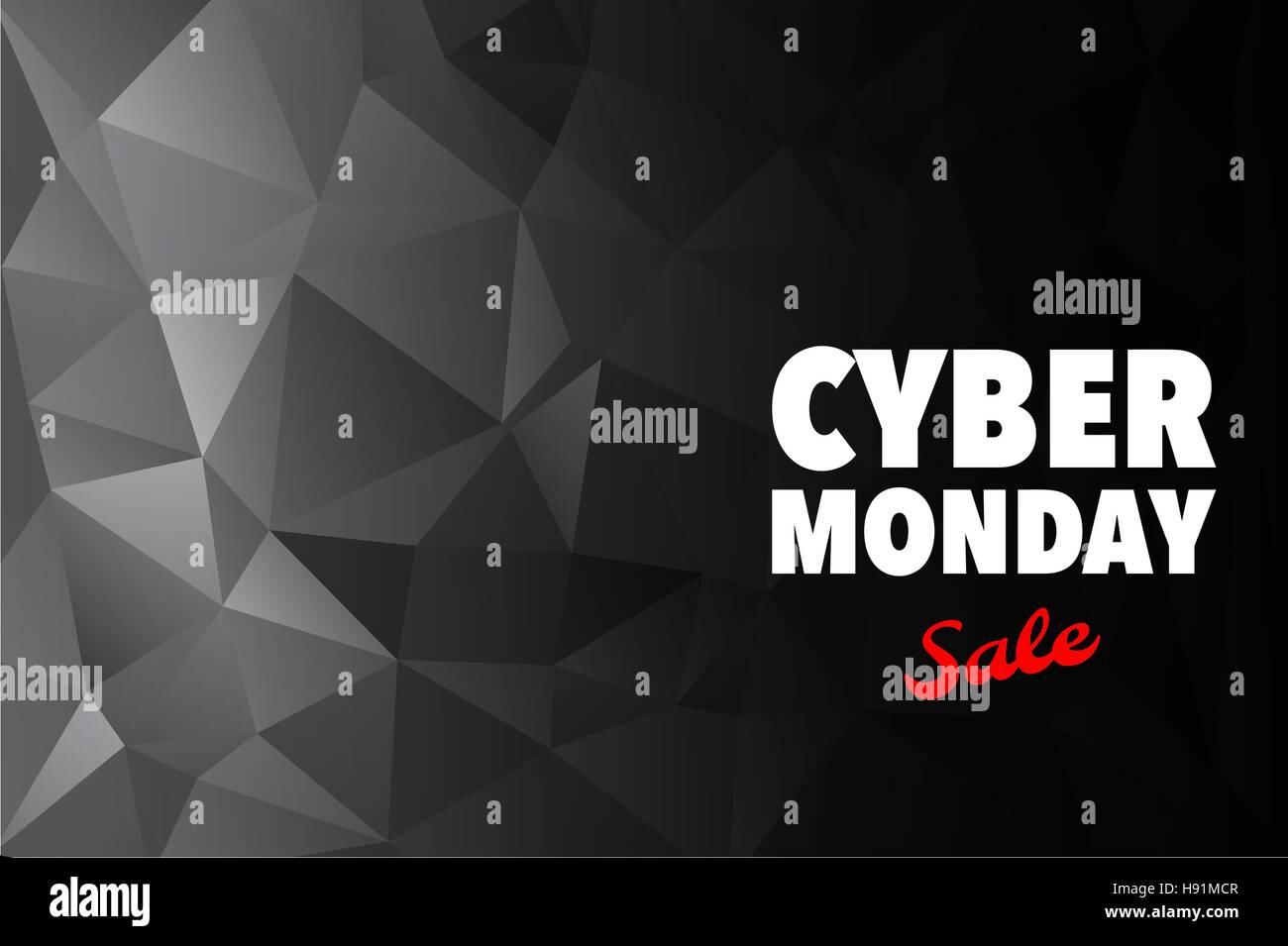 Cyber Monday Publicidad diseño de póster Plantilla vectorial Imagen De Stock