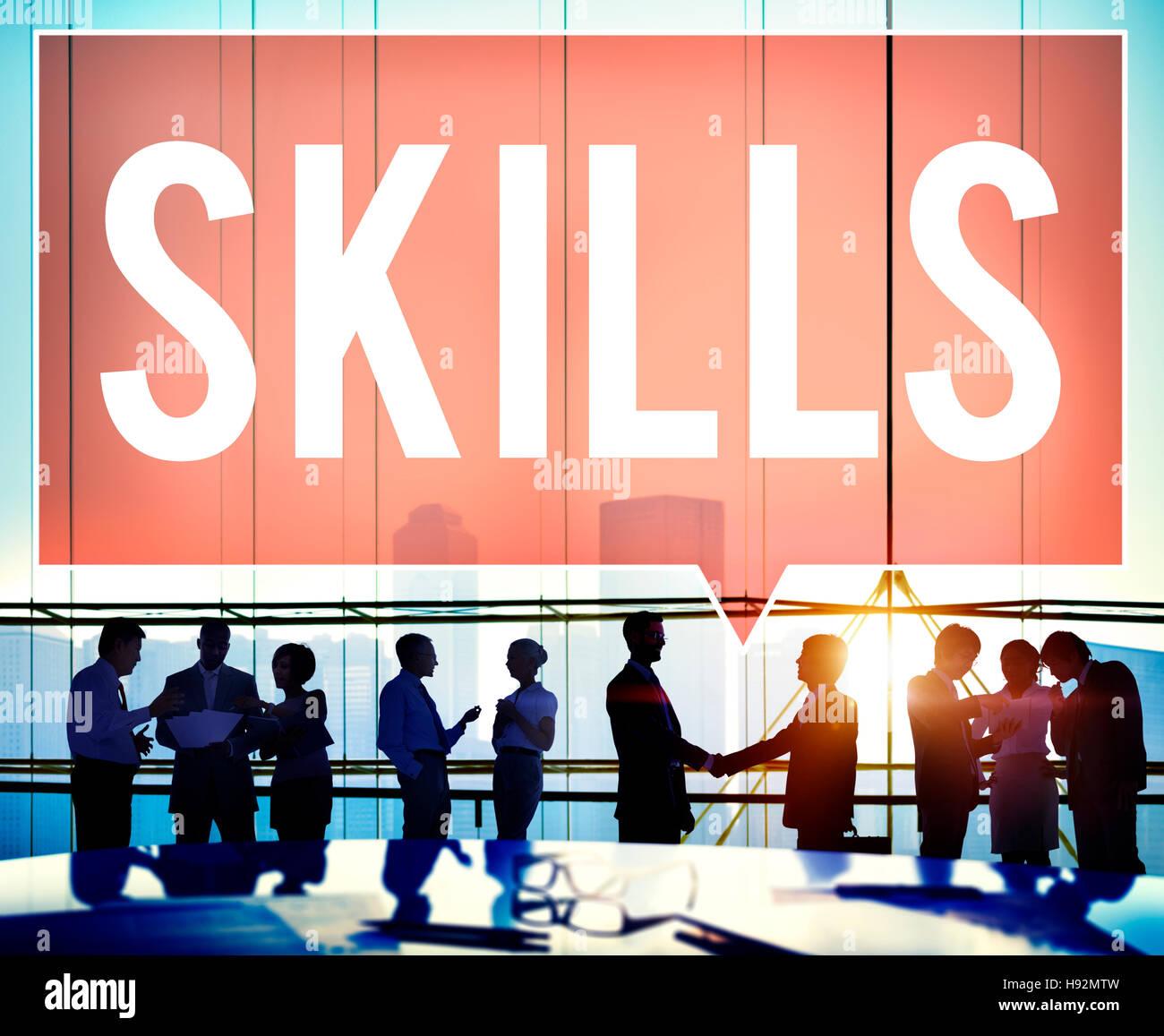 Capacidad de habilidades calificación concepto talento de rendimiento Imagen De Stock