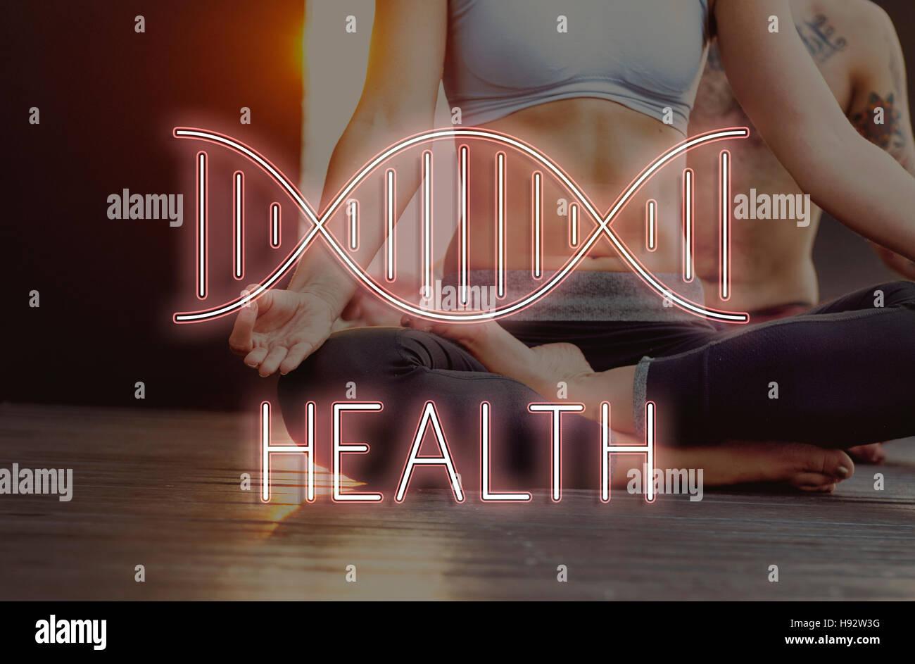 La estructura del ADN de salud Concepto de símbolo Imagen De Stock