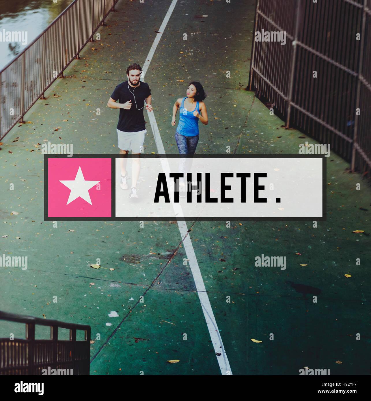 El edificio del cuerpo activo estilo de vida concepto atlético Imagen De Stock