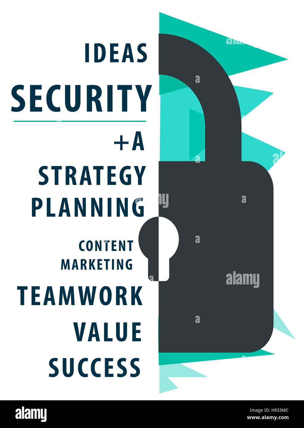 Estrategia de seguridad de Vigilancia de contenido el concepto de bloqueo Imagen De Stock