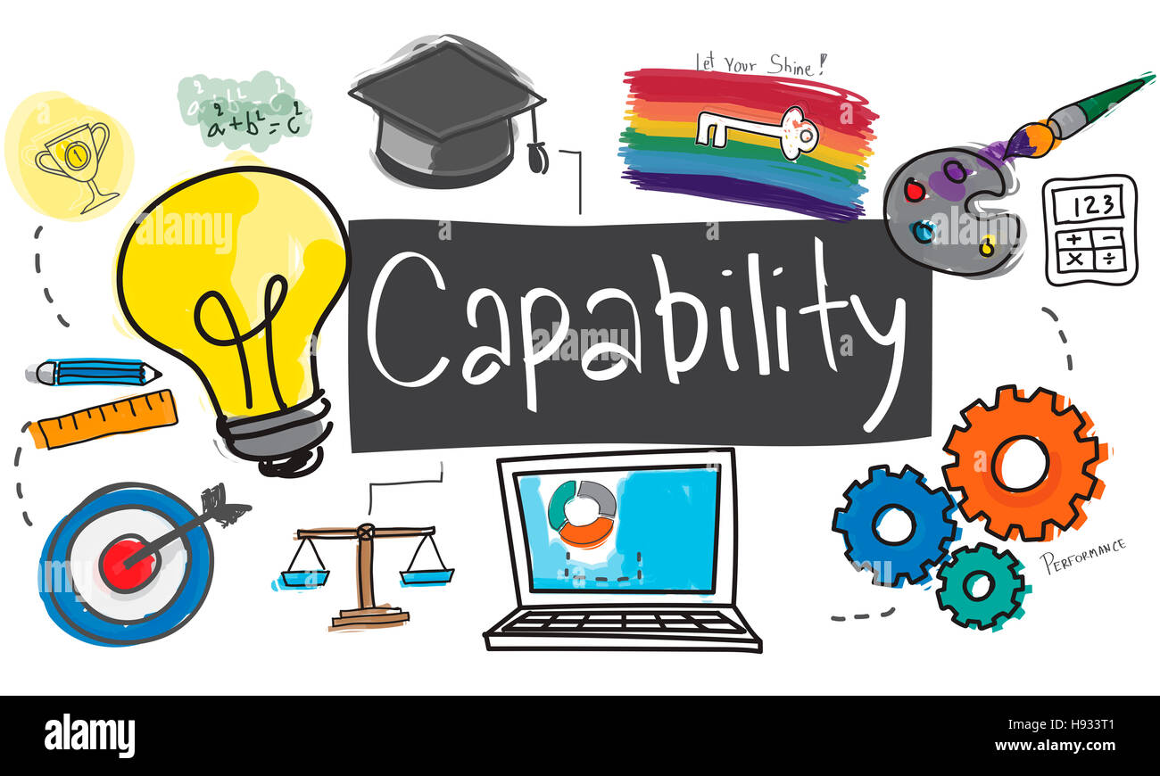 Capacidad Capacidad creatividad icono Dibujo Ilustración Concepto Imagen De Stock