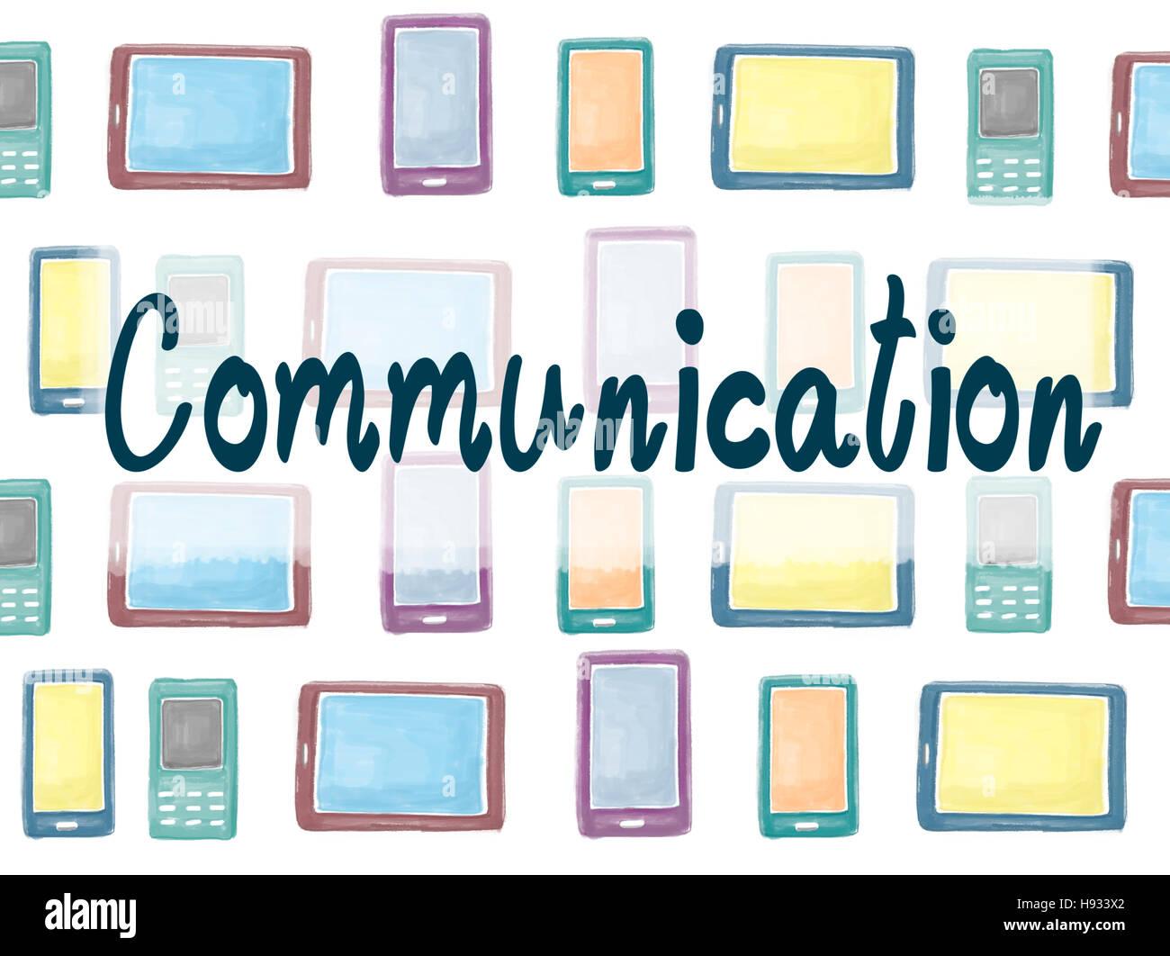 Comunicación comunicar el concepto de interacción de conexión Imagen De Stock