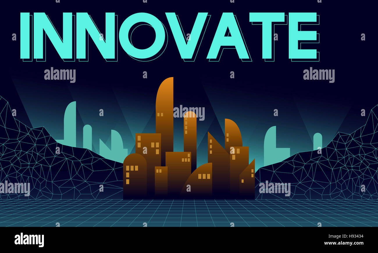 Innovar la innovadora arquitectura rascacielos Concepto de estructura Imagen De Stock