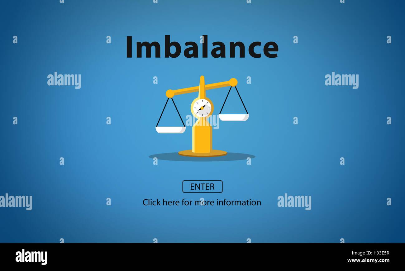 Desequilibrio elección comparación complejidad Concepto de riesgo Imagen De Stock