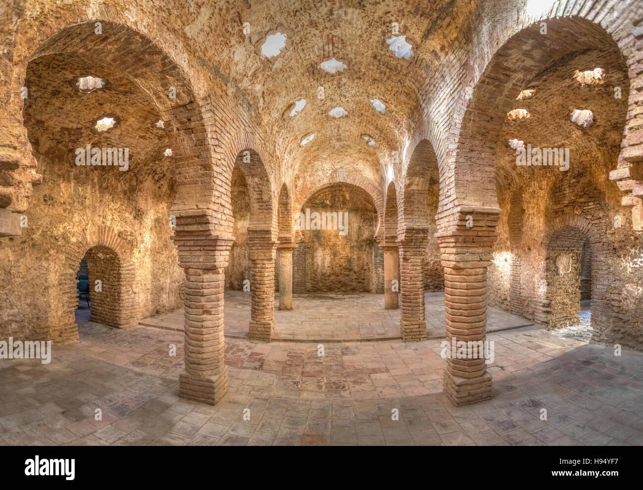Baños árabes construidos en el siglo XIII, Ronda, Andalucia, Spain Imagen De Stock