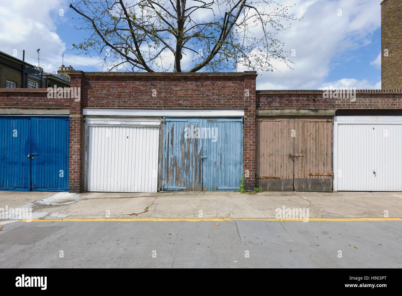 Garajes, Londres Imagen De Stock