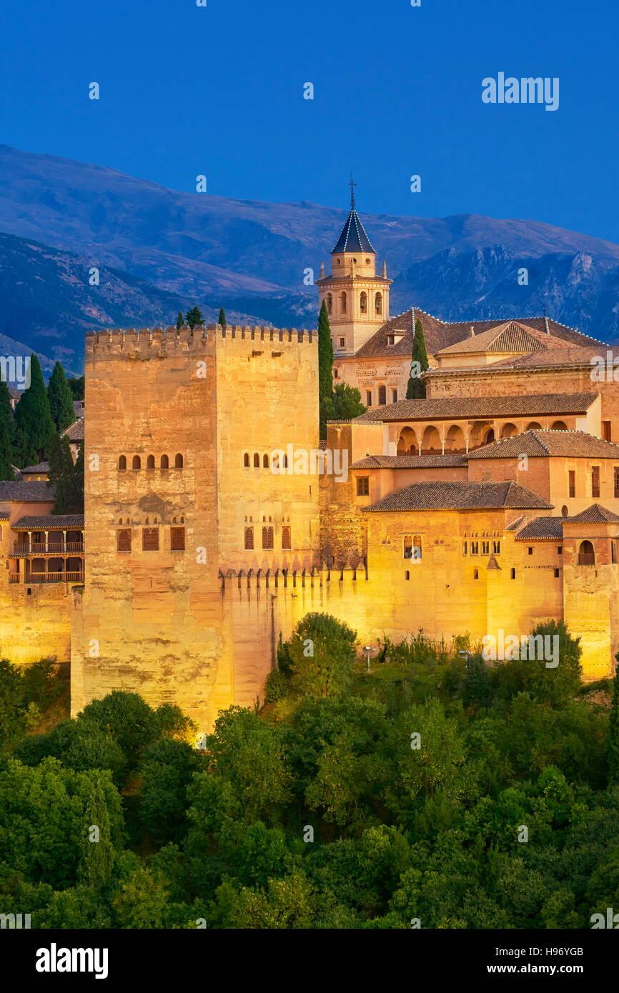 Palacio de la Alhambra, Granada, Andalucía, España Imagen De Stock