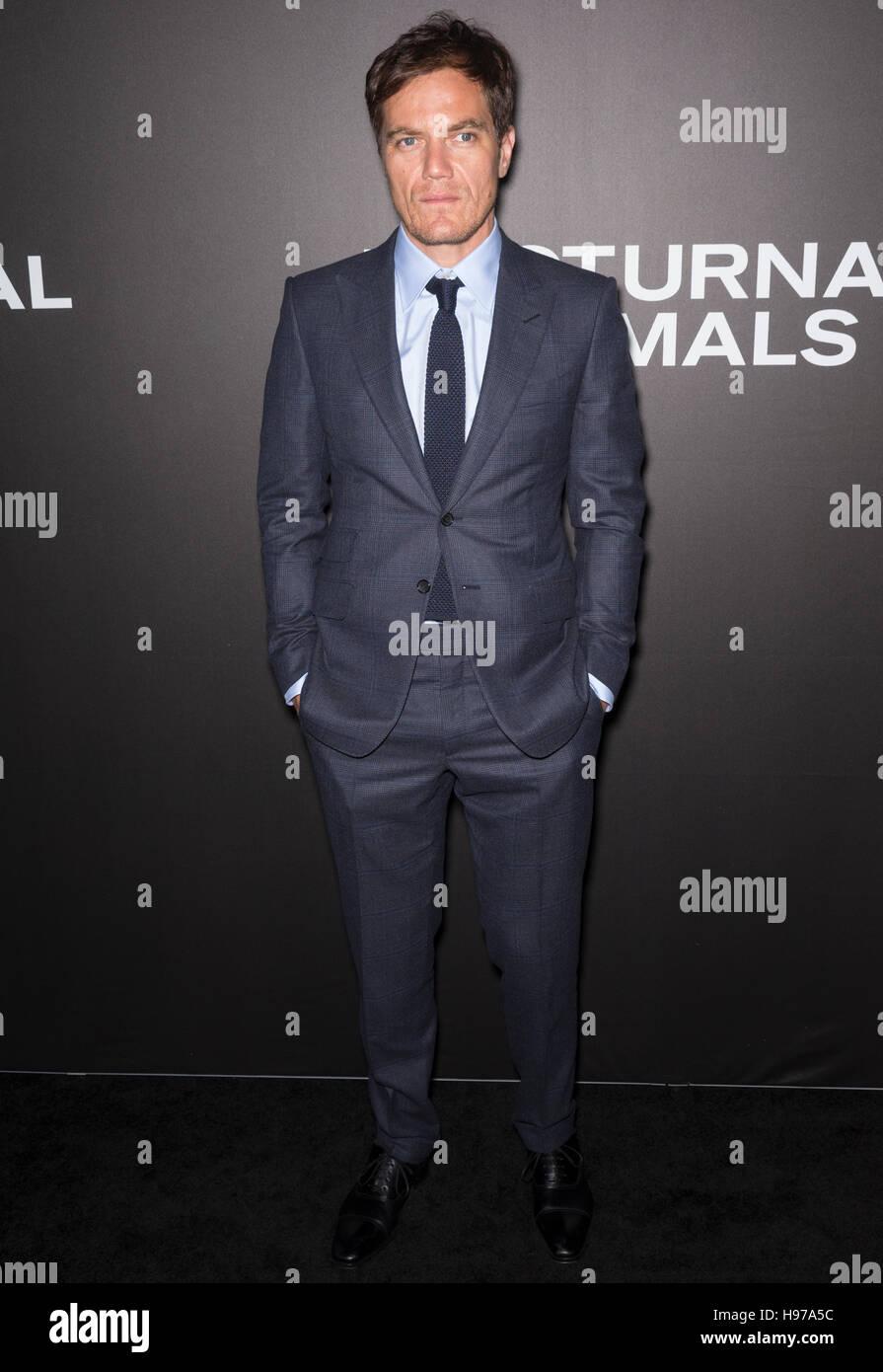 La Ciudad de Nueva York, EE.UU. - 17 noviembre, 2016: el actor Michael Shannon asiste al 'animales nocturnos' Imagen De Stock