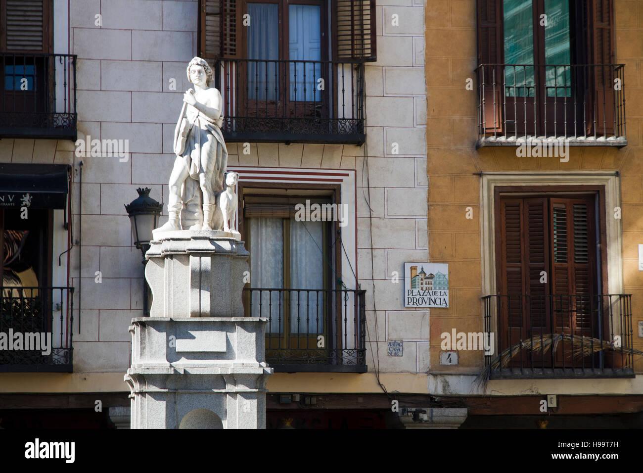 """Madrid, España """"Plaza de la Provincia' estatua Imagen De Stock"""