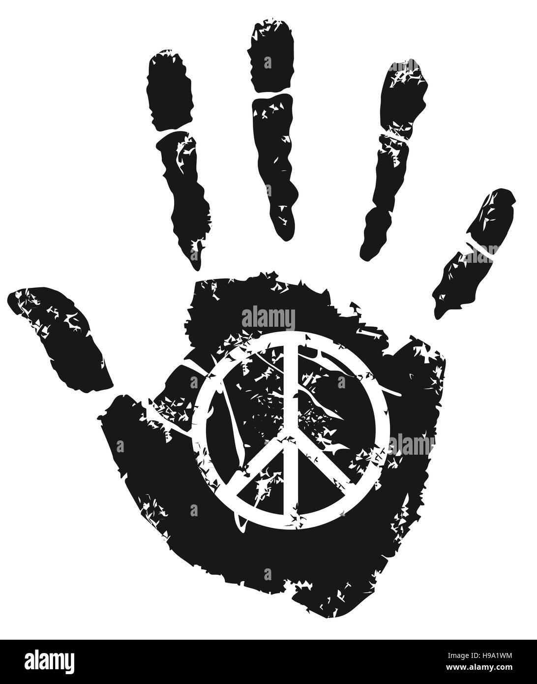 Signo de la paz Imagen De Stock