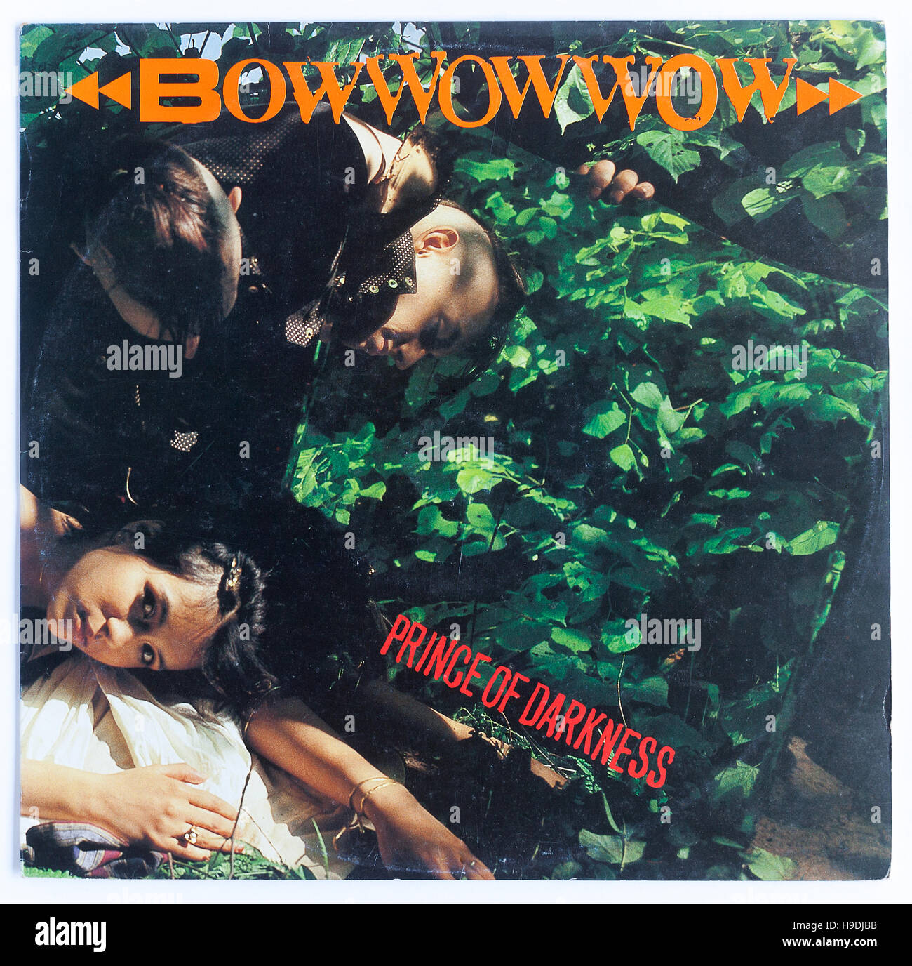 """Cubierta del """"Príncipe de las Tinieblas', 1981 12' solo por Bow Wow Wow Imagen De Stock"""