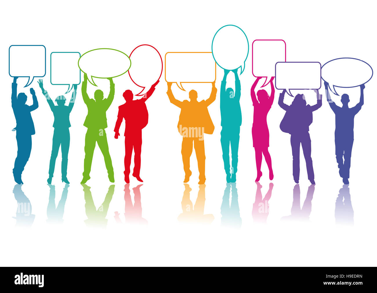 La gente se comunica, habla, charla Imagen De Stock