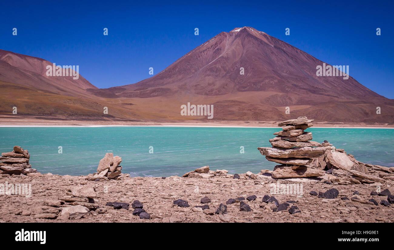 Laguna Verde Uyuni Bolivia Imagen De Stock