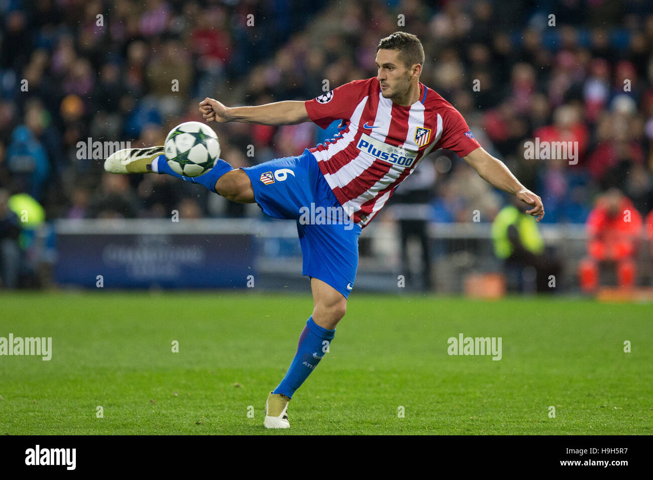 El centrocampista español del Atlético de Madrid Koke durante el partido de Liga de Campeones de la UEFA Imagen De Stock